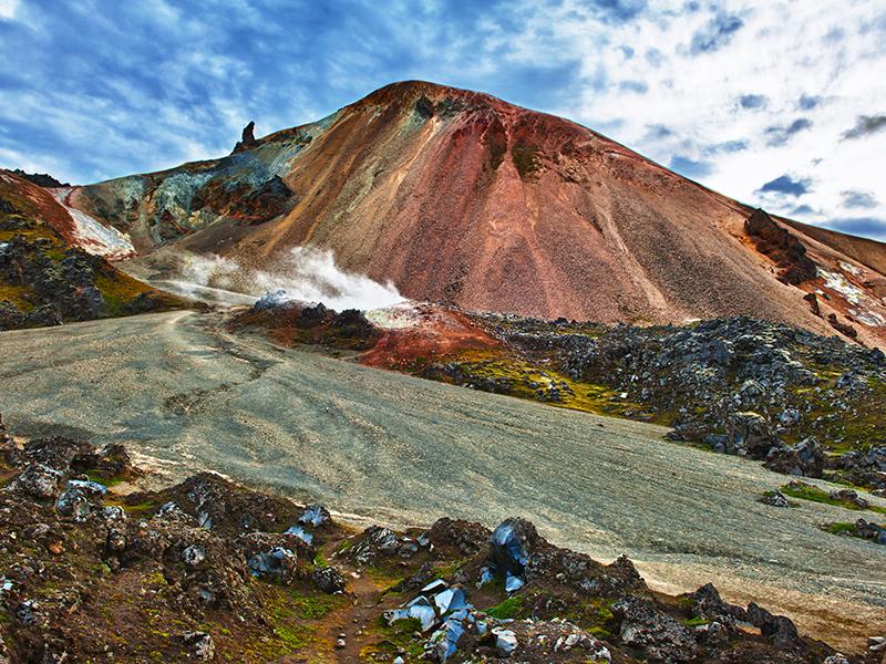 BILFERIE PÅ ISLAND_Sør- Vest- og høylandet på Island_Opplev Landmannalaugar på Island © Din Islandsreise
