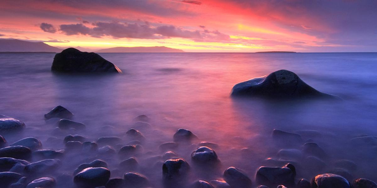 Bilferie på Island_Sør Vest og høylandet_Vakker solnedgang i Reykjavik © Din Islandsreise